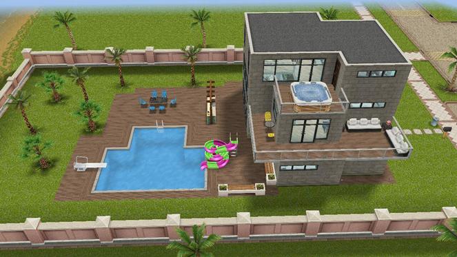 Casa con soppalco the sims freeplay universe for Piani di casa per i lotti di vista posteriore