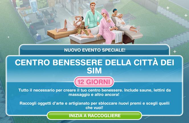 Dove Comprare Lettino Da Massaggio.Evento Speciale Centro Benessere Della Citta Dei Sim The Sims