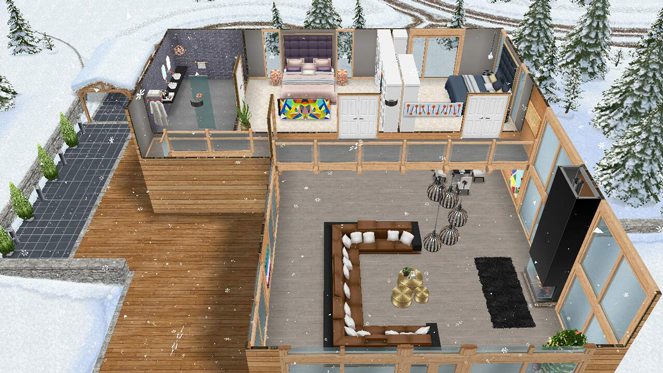Camera Da Letto Padronale The Sims : Chalet di montagna the sims freeplay universe