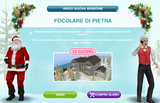 Addobbi Natalizi The Sims 3.Missione Stagionale Focolare Di Pietra The Sims Freeplay Universe