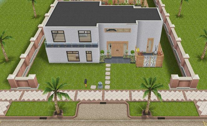 Modello casa con giardino di classe the sims freeplay universe - Costo donazione casa ...